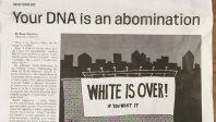 Le racisme anti-Blancs du jour: «Votre ADN est une abomination !»