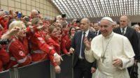 Le pape a invoqué la bénédiction de «Dieu, notre père à tous, père de toutes les confessions» sur les membres de la Croix-Rouge italienne