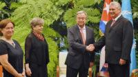 A Cuba, Antonio Guterres (ONU) congratule Raul Castro; son bras droit Alicia Barcena (ECLAC) dédouane la dictature en accablant l'embargo
