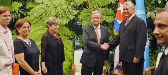 Cuba ONU ECLAC Antonio Guterres Alicia Barcena Raul Castro