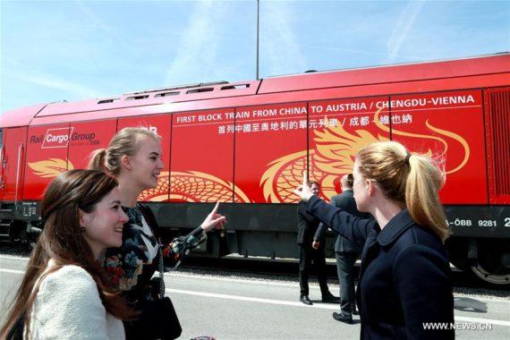 Nouvelle route soie ligne fret Chengdu Vienne