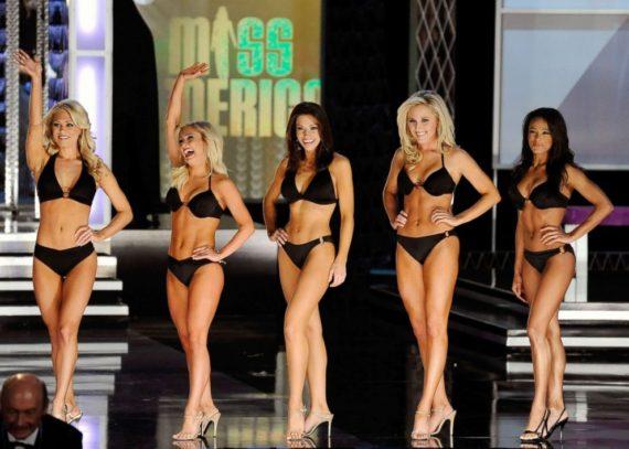 Bikini Miss America Victoire Ideologie