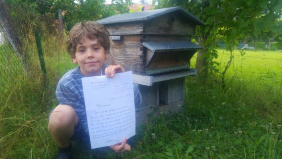 Macron Enfant Sept Ans Lettre Pesticides Monopole Coeur