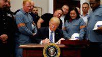 Trump impose des droits de douane sur l'acier et l'aluminium, Lagarde, Juncker et Macron profèrent leur fureur contre son «nationalisme»