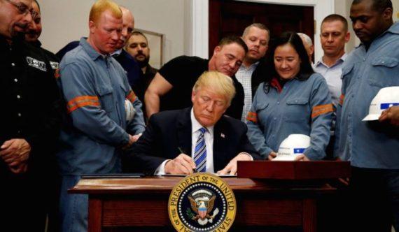 Trump droits douane acier aluminium Lagarde Macron Juncker