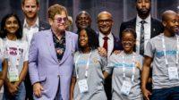 Elton John et le prince Charly à Amsterdam: le sida prétexte à la révolution par le sexe