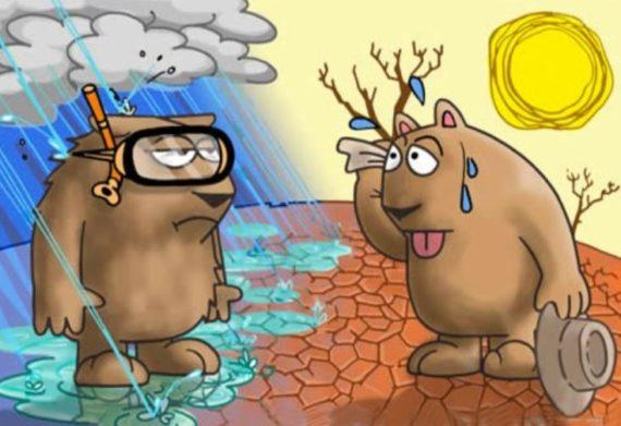 Été chaud températures moyennes climato alarmisme