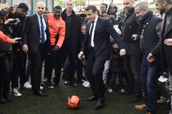 Macron Bleus Politique Foot Thierry Henry