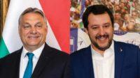Rencontre Salvini-Orbán à Milan contre l'immigration et contre les politiques de Bruxelles et de Macron