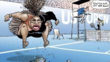 Tennis et totalitarisme: a-t-on le droit de caricaturer Serena Williams?