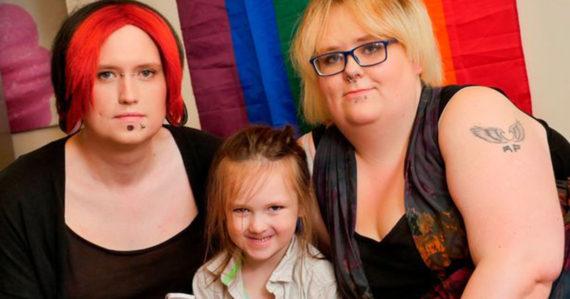 inversion sexe père mère Gender fluid famille britannique