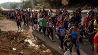 Historique: Trump face au peuple sans frontière des migrants et à ses colonnes infernales